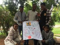 Parys team with their Change agent action plan