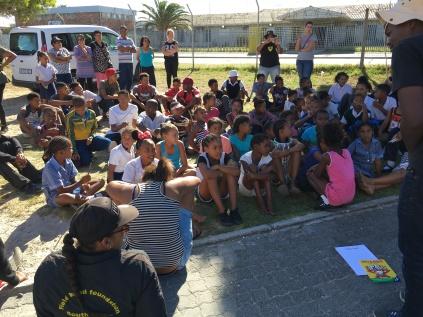 The Stellenbosch team facilitating HIV & Aids activities