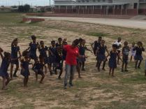 Dineo stepping in as dance tutor for the day