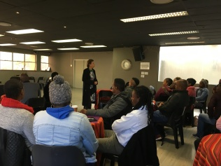 CEO Nicky du Plessis welcoming everyone to the workshop